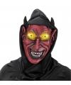 Rode duivel masker met capuchon voor volwassenen