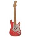 Rode elektrische gitaar klok 50 cm