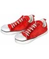 Rode enkel sneaker pantoffels voor dames