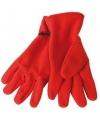 Rode fleece handschoenen voor volwassenen