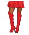 Rode glimmende laarshoezen voor dames