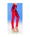 Rode glimmende legging voor dames