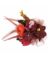 Rode haarbloemen met klem