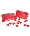 Rode hartjes confetti 250 gram