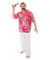 Rode hawaii blouse voor heren