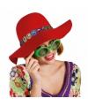 Rode hippie hoed
