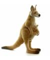 Rode kangaroe knuffel 43 cm