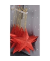 Rode kersthanger ster 10 cm