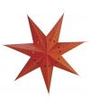 Rode kerstster van papier 45 cm