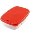 Rode lunchtrommel met bestek