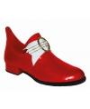 Rode middeleeuwse heren schoenen