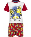 Rode minion powered korte pyjama jongens