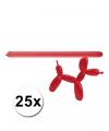 Rode modelleer ballonnen 25 stuks