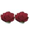 Rode papieren bloemetjes 1 5 cm