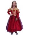 Rode prinsessen jurk voor meisjes