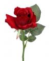 Rode roos 30 cm kunstbloemen
