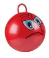 Rode skippybal met gezicht 45cm