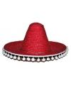 Rode sombrero 60 cm voor volwassenen