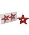 Rode ster kerstboom hangers 13 cm