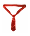 Rode stropdas met pailletten
