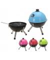 Ronde barbecue blauw 33 cm