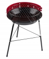 Ronde barbecue grill rood