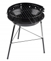 Ronde barbecue grill zwart