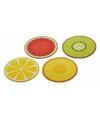 Ronde fruit placemats set van 4