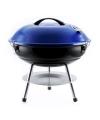 Ronde houtskool barbecue blauw