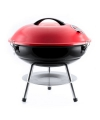 Ronde houtskool barbecue rood