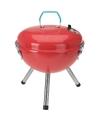 Ronde kogelbarbecue rood 28 cm met deksel