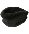 Ronde mode sjaal zwart