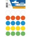 Ronde sticker etiketten gekleurd 19 mm