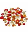 Ronde strass steentjes rood mix 360 stuks
