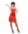 Rood charleston jurkje voor dames