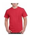 Rood katoenen shirt voor volwassenen