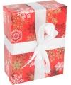 Rood kerst decoratie kadootje 16 cm