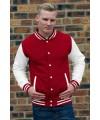 Rood met wit jacket voor heren