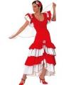 Rood met witte flamenco jurk