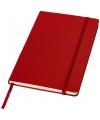 Rood notitie boek gelinieerd a5 formaat