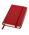 Rood pocket notitie boekje gelinieerd a6 formaat