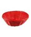 Rood rieten mandje 25 cm