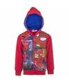 Rood spiderman capuchon vest voor kinderen
