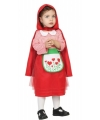 Roodkapje baby kostuum