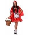 Roodkapje kostuum met cape