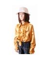 Rouches blouse goud voor meisjes
