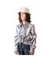 Rouches blouse zilver voor meisjes