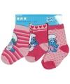 Roze baby sokken smurfen 3 pak