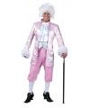 Roze barok kostuum voor heren