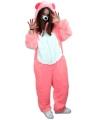 Roze beren kostuum voor volwassenen